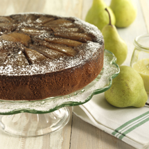 Pear and Molasses Upside Down Cake