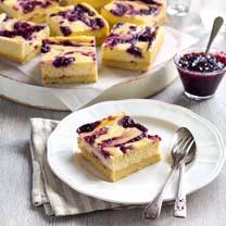 Berry and Lemon Cheesecake Bars Gluten Free