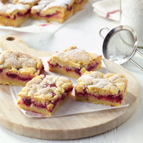 Lemon Raspberry and White Chocolate Shortcake